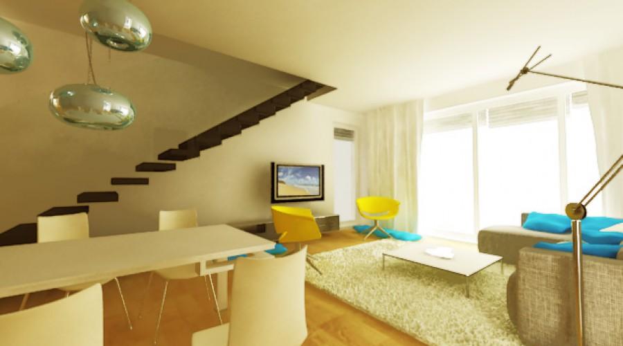 Svieži interiér malého domu